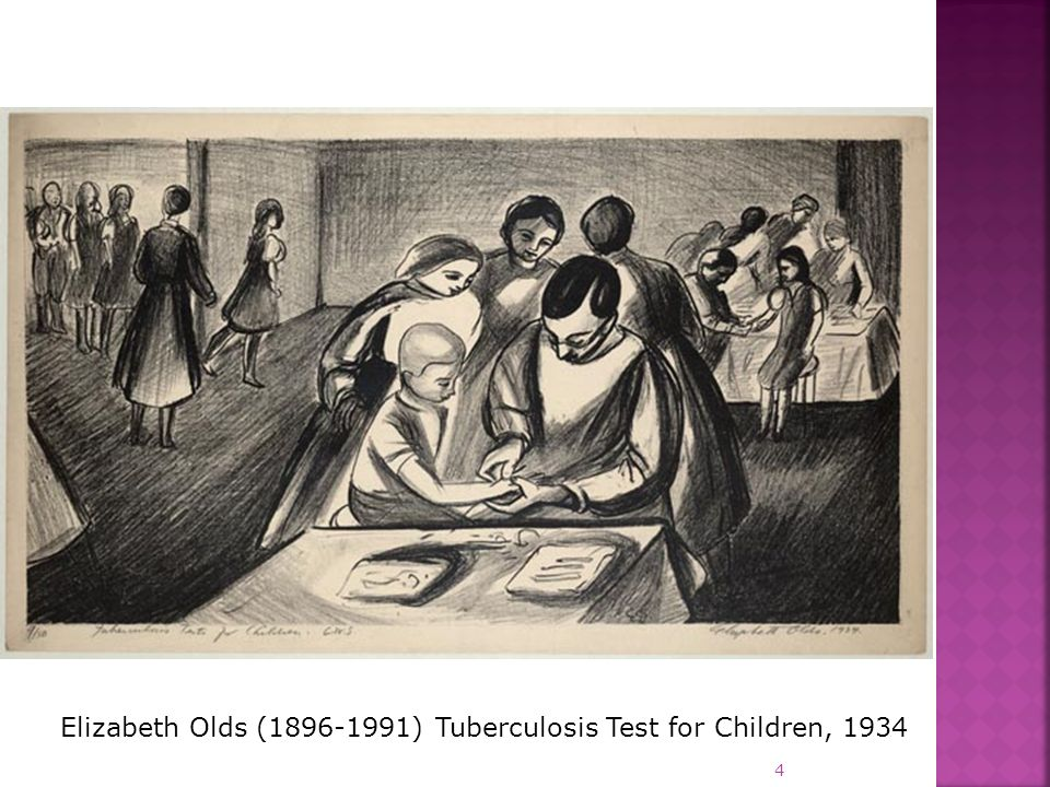 Elizabeth Olds (1896-1991) Tuberculosis Test for Children, 1934