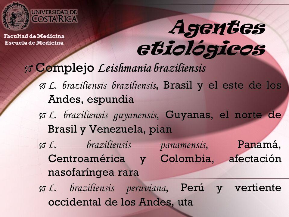 Agentes etiológicos Complejo Leishmania braziliensis