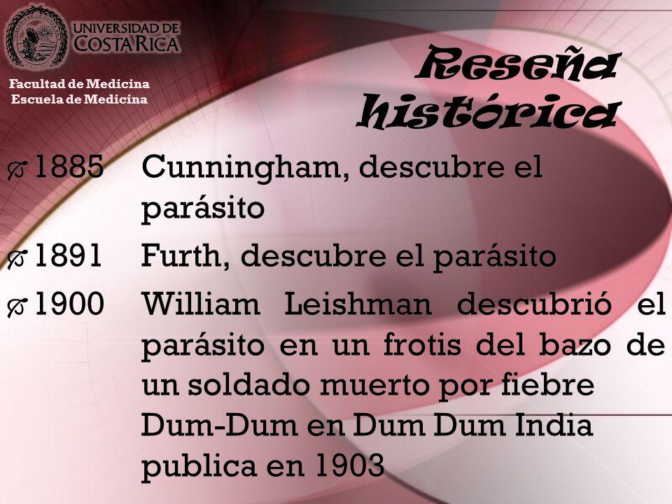 Reseña histórica 1885 Cunningham, descubre el parásito