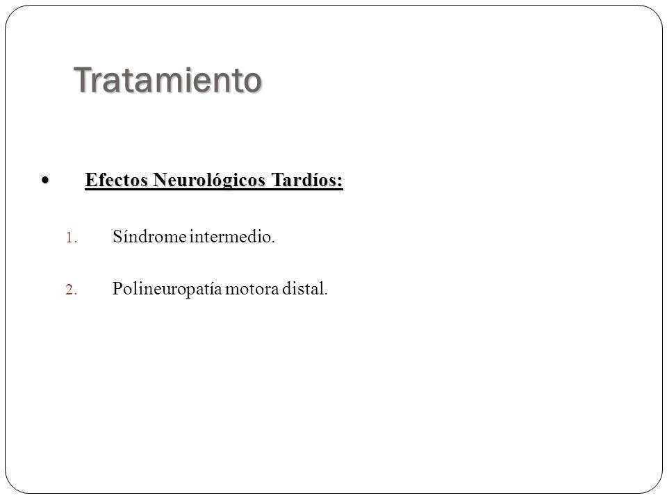 Tratamiento Efectos Neurológicos Tardíos: Síndrome intermedio.