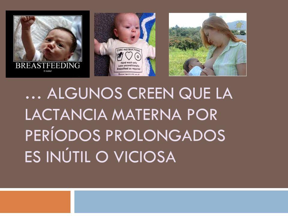 … algunos creen que la lactancia materna por períodos prolongados es inútil o viciosa