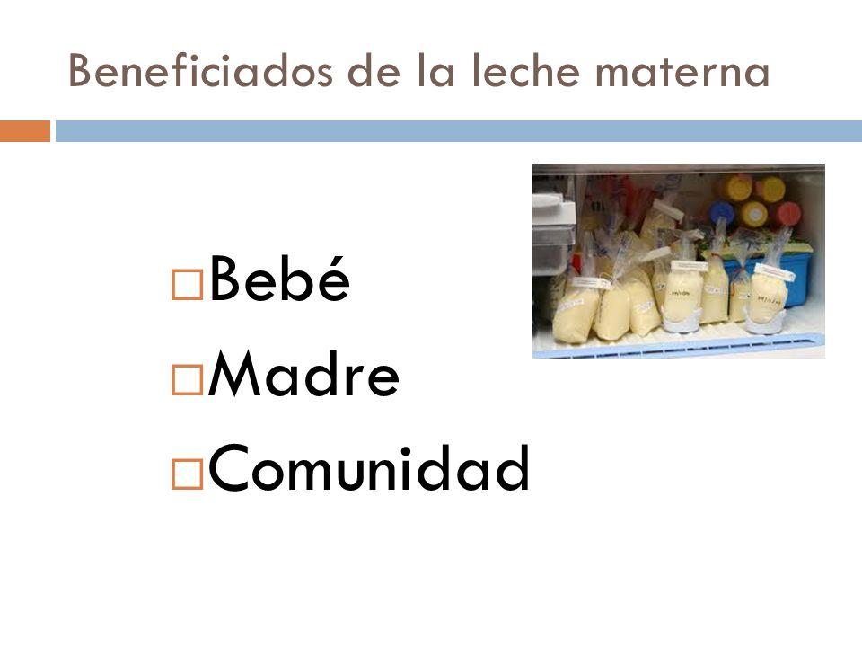 Beneficiados de la leche materna
