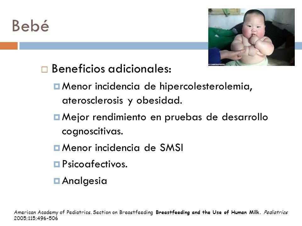 Bebé Beneficios adicionales: