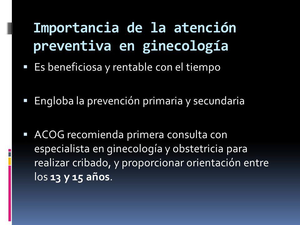 Importancia de la atención preventiva en ginecología