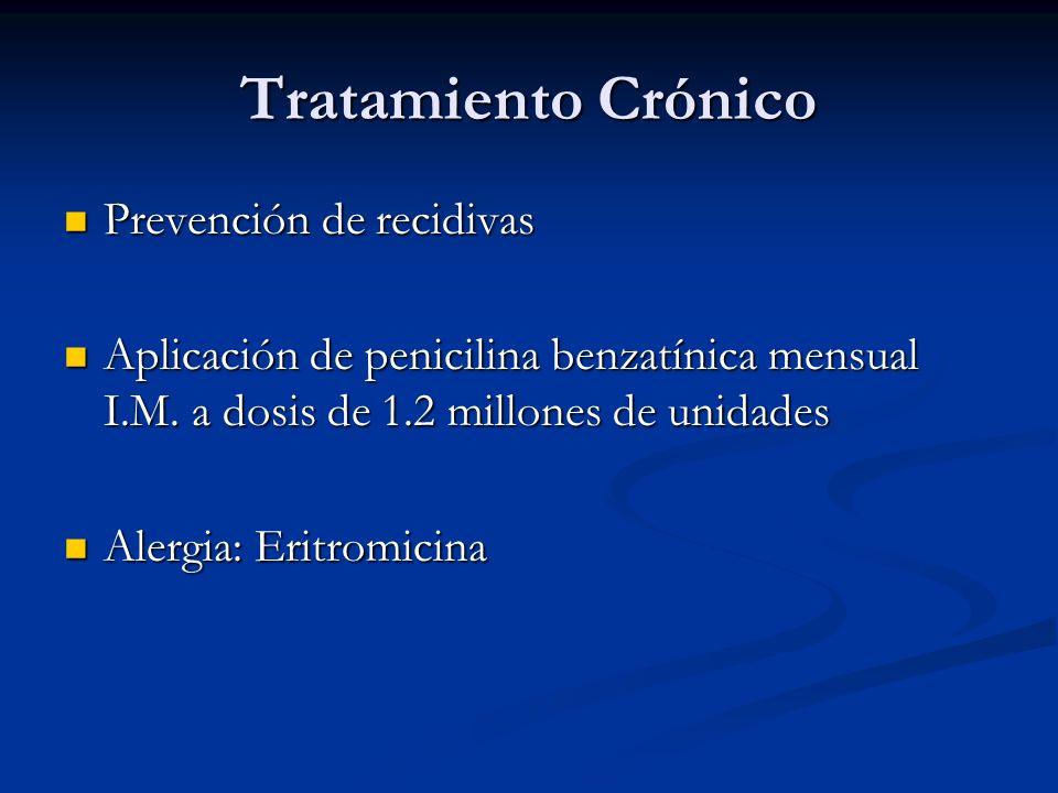 Tratamiento Crónico Prevención de recidivas