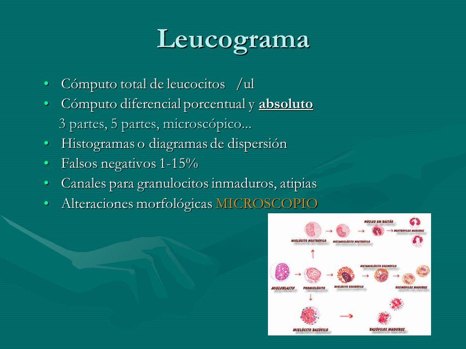 Leucograma Cómputo total de leucocitos /ul