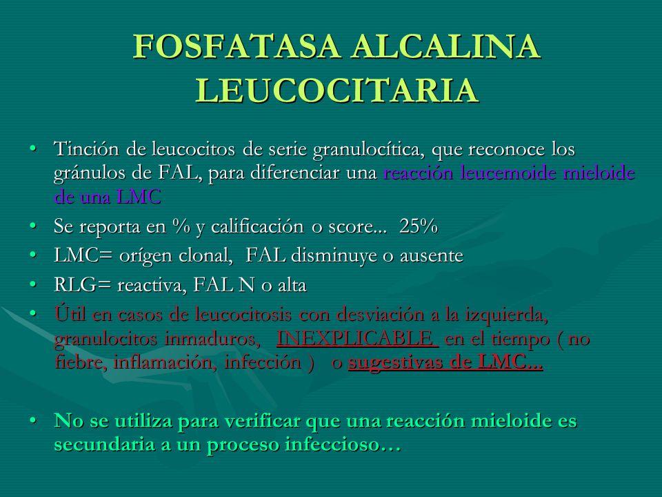 FOSFATASA ALCALINA LEUCOCITARIA