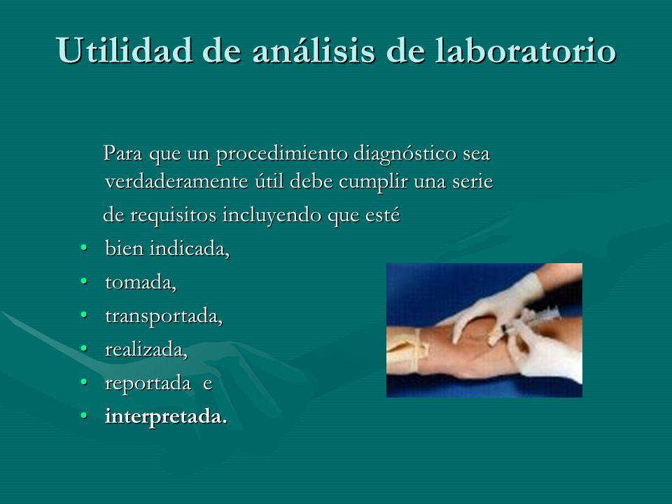 Utilidad de análisis de laboratorio