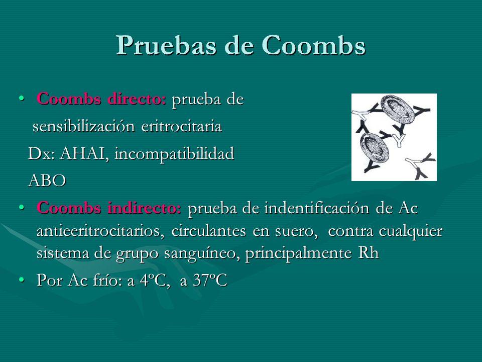 Pruebas de Coombs Coombs directo: prueba de