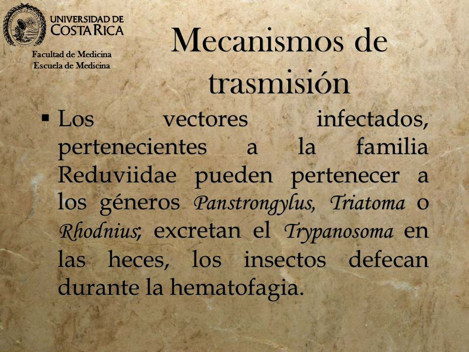 Mecanismos de trasmisión