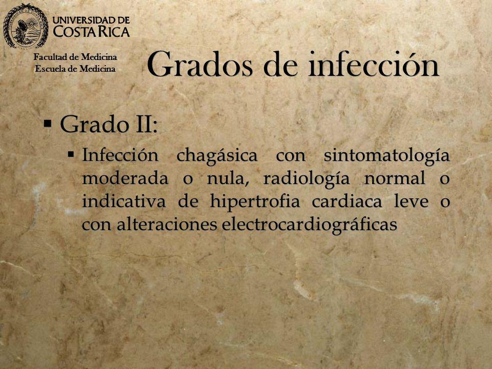 Grados de infección Grado II: