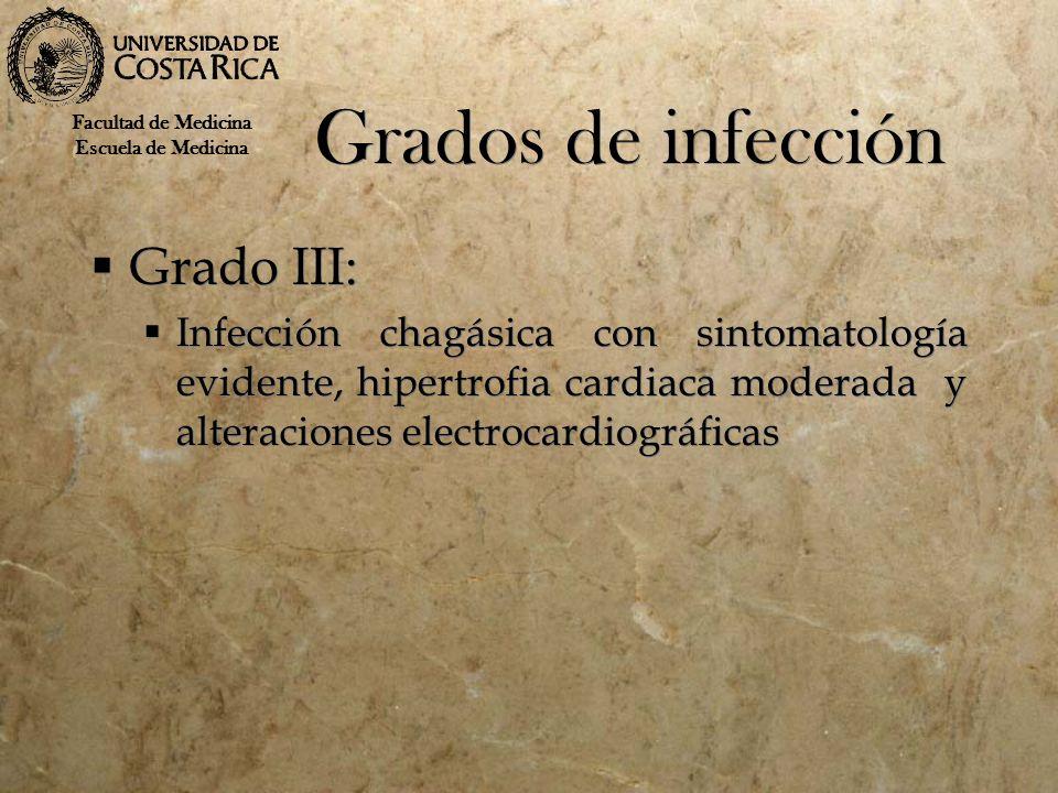 Grados de infección Grado III: