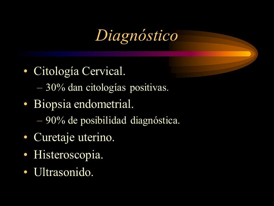 Diagnóstico Citología Cervical. Biopsia endometrial. Curetaje uterino.