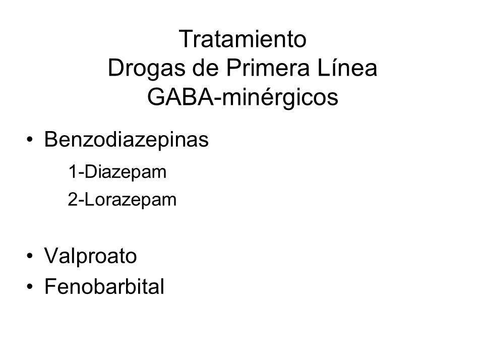 Tratamiento Drogas de Primera Línea GABA-minérgicos