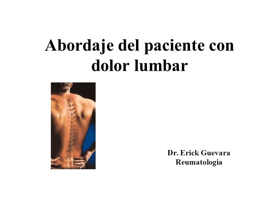 Abordaje del paciente con dolor lumbar