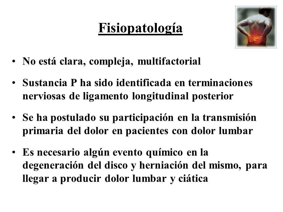Fisiopatología No está clara, compleja, multifactorial