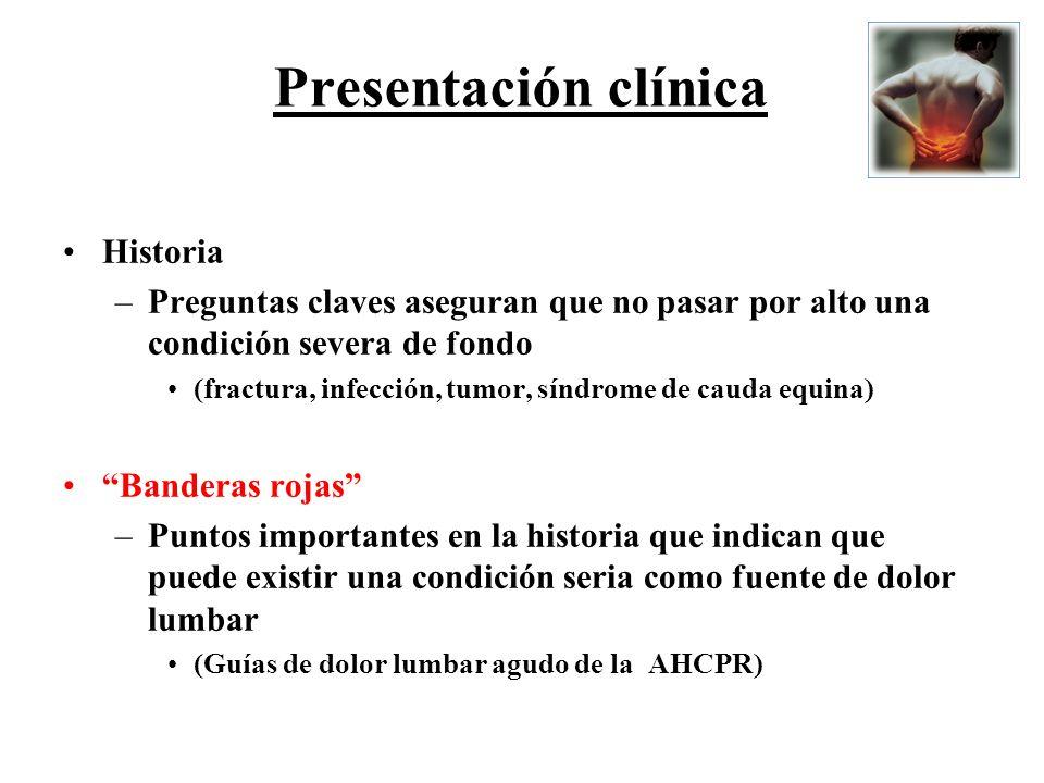 Presentación clínica Historia