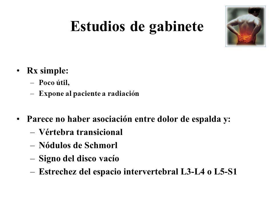 Estudios de gabinete Rx simple: