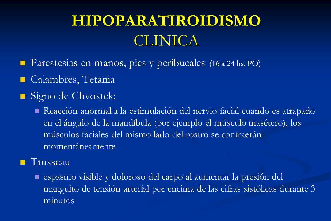 HIPOPARATIROIDISMO CLINICA