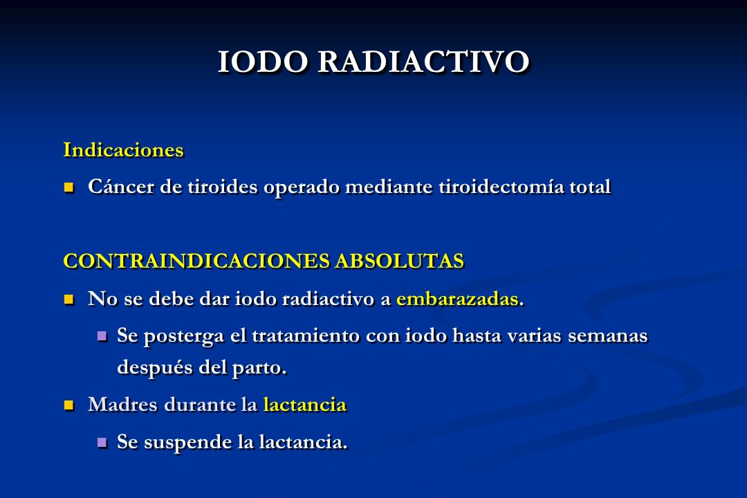IODO RADIACTIVO Indicaciones