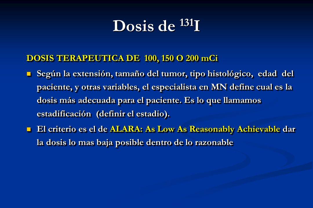Dosis de 131I DOSIS TERAPEUTICA DE 100, 150 O 200 mCi