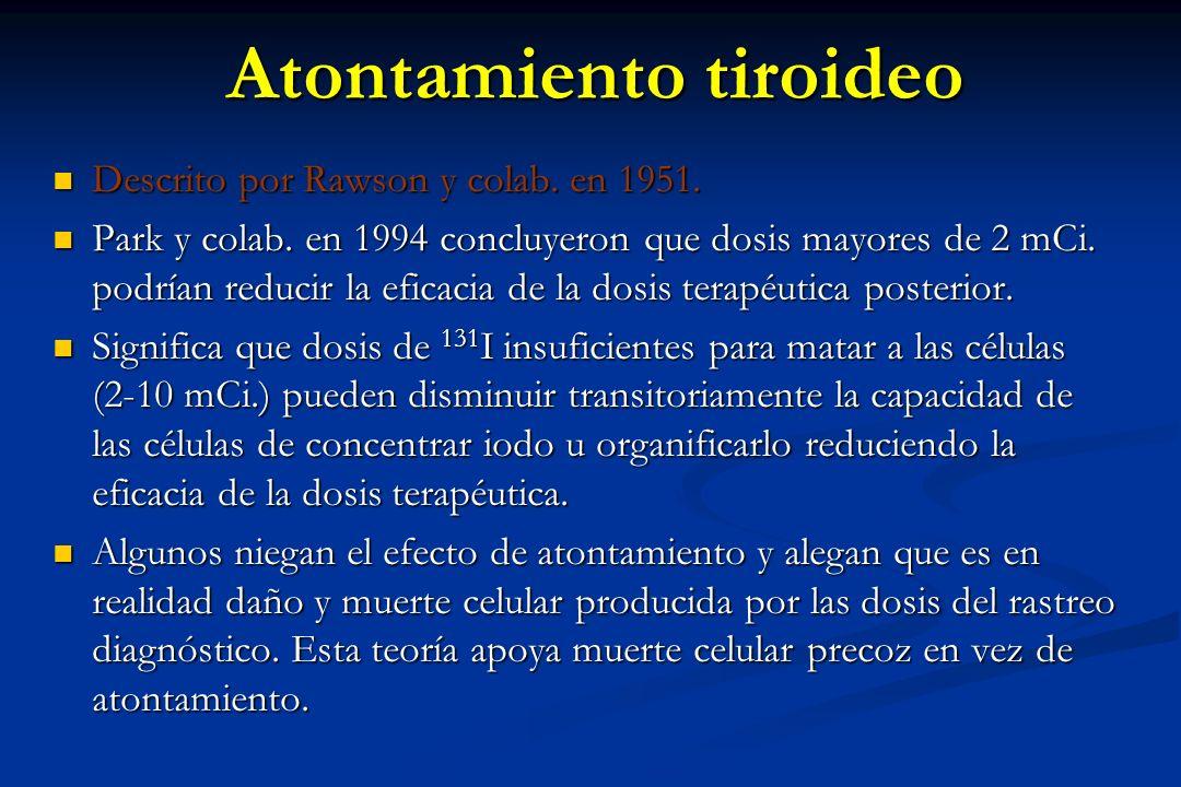 Atontamiento tiroideo