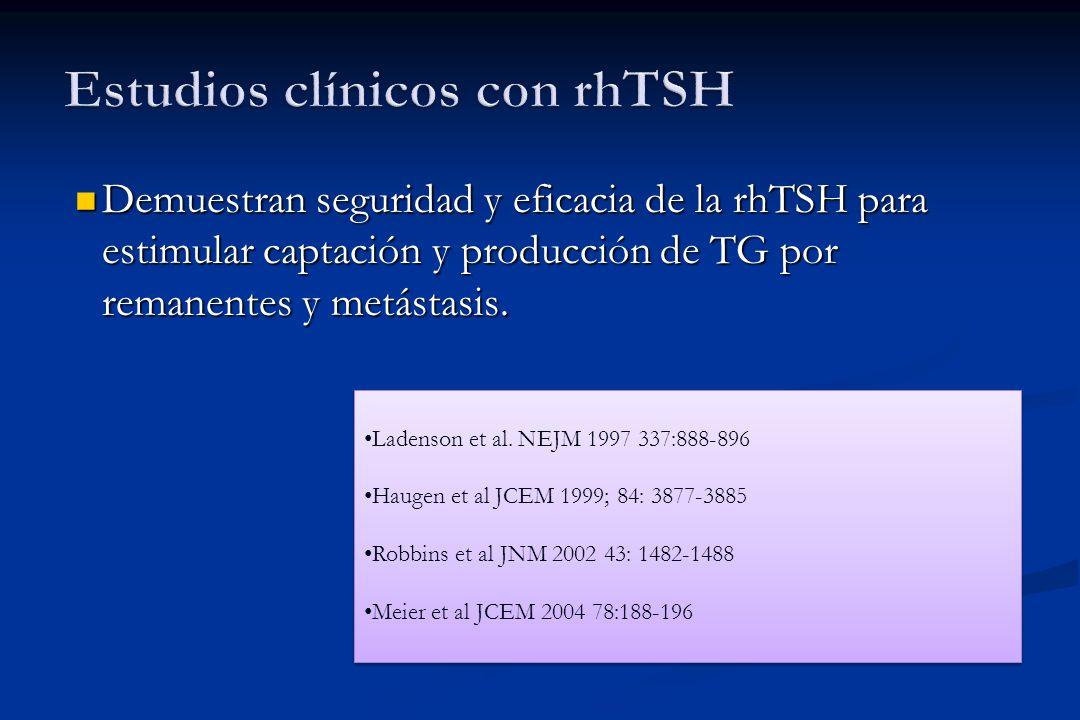 Estudios clínicos con rhTSH