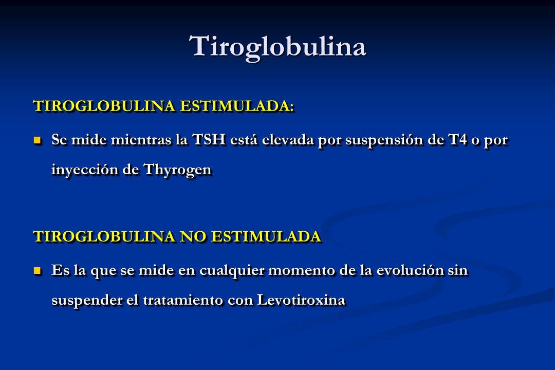 Tiroglobulina TIROGLOBULINA ESTIMULADA: