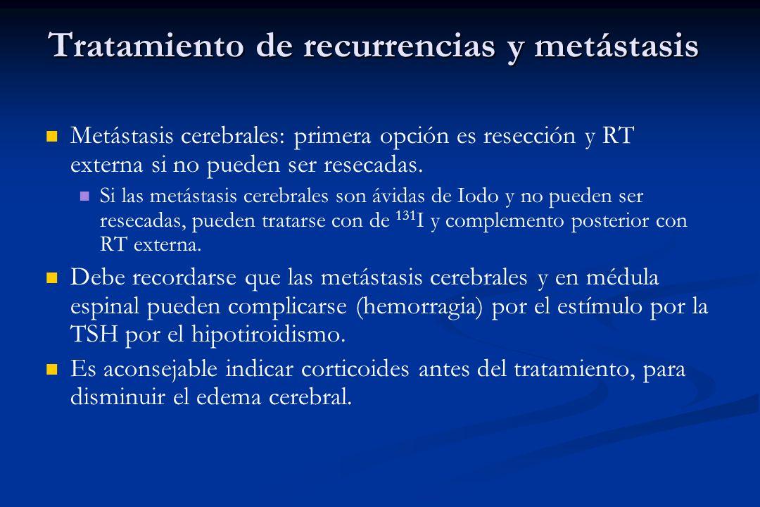Tratamiento de recurrencias y metástasis