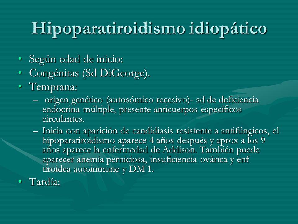 Hipoparatiroidismo idiopático