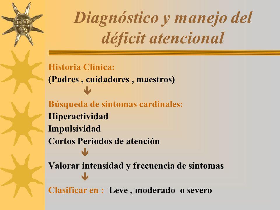 Diagnóstico y manejo del déficit atencional