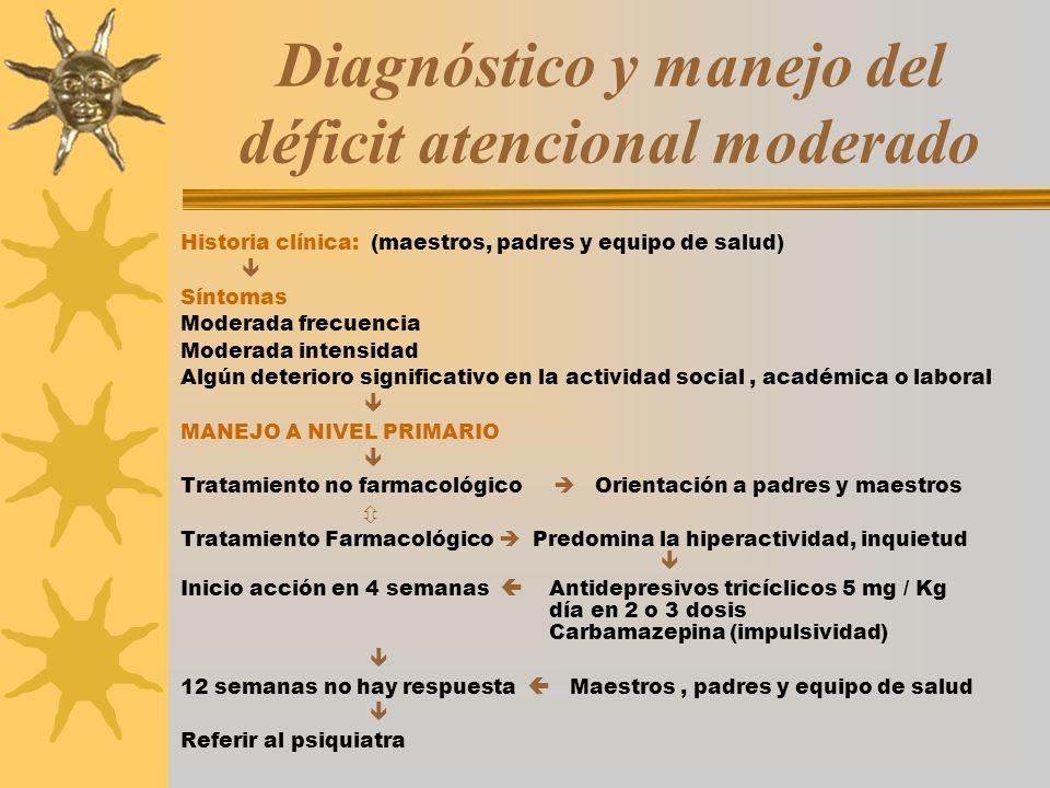 Diagnóstico y manejo del déficit atencional moderado