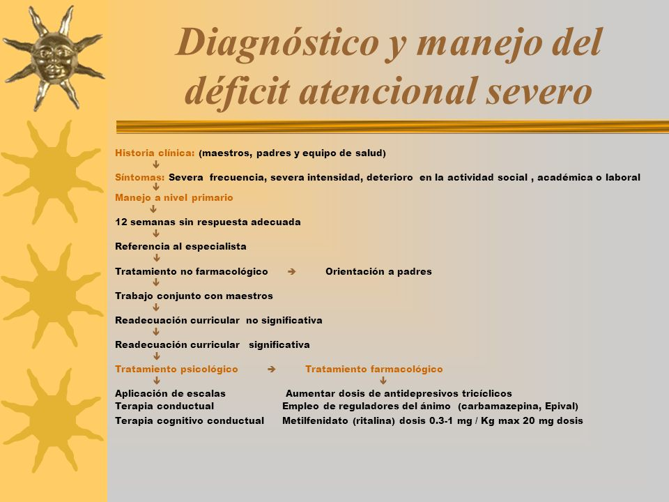 Diagnóstico y manejo del déficit atencional severo