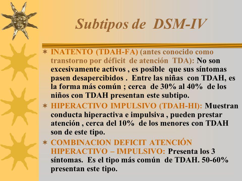 Subtipos de DSM-IV
