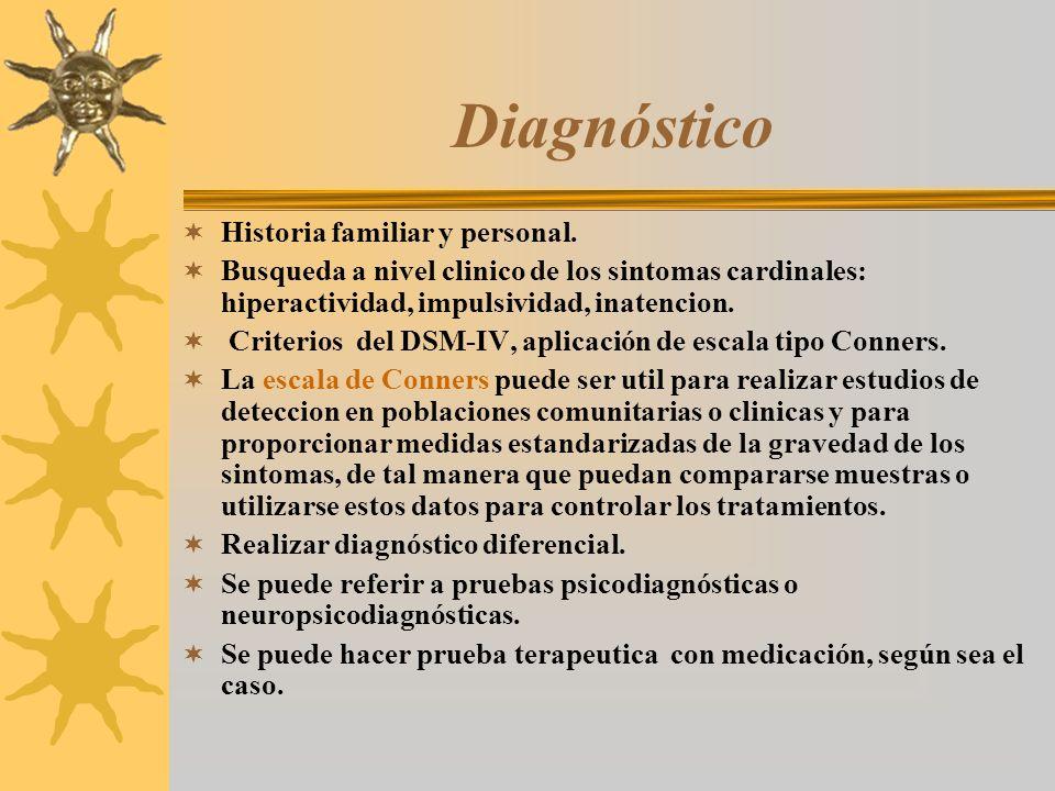 Diagnóstico Historia familiar y personal.