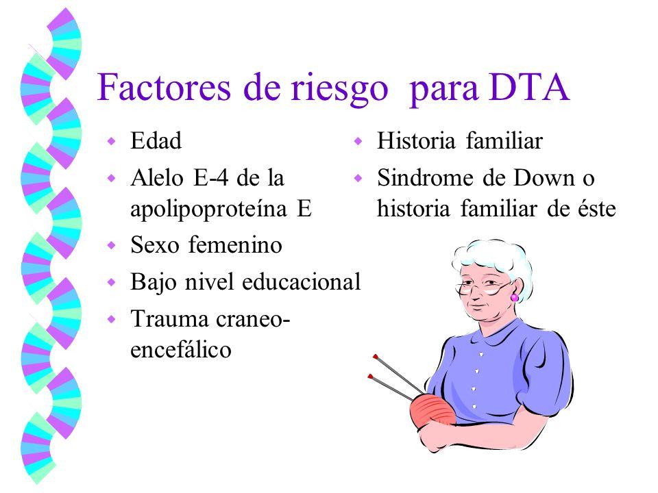 Factores de riesgo para DTA