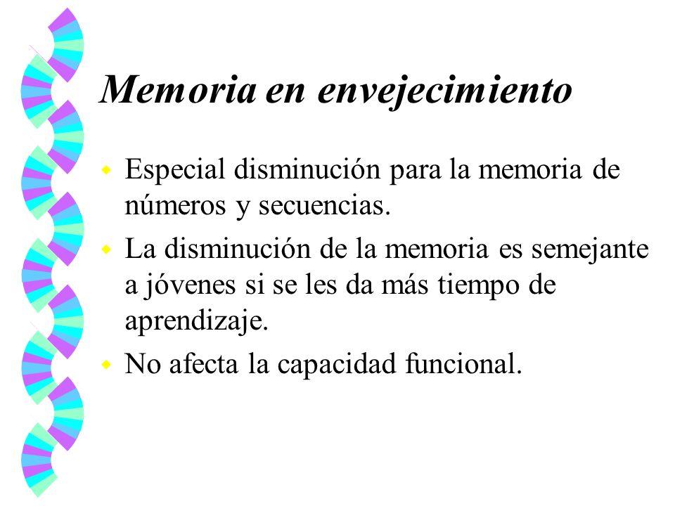 Memoria en envejecimiento