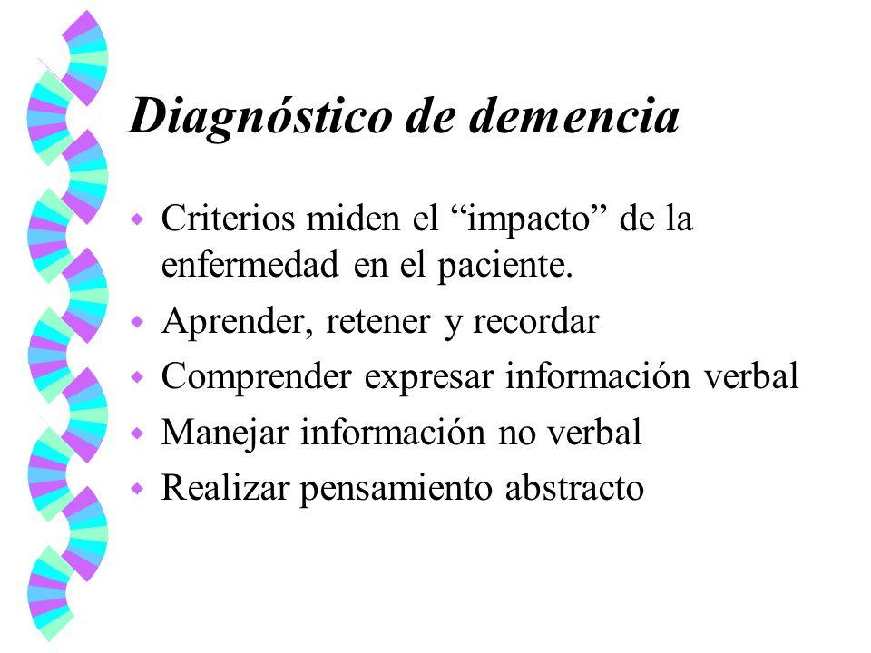 Diagnóstico de demencia