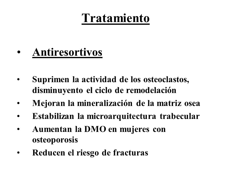 Tratamiento Antiresortivos