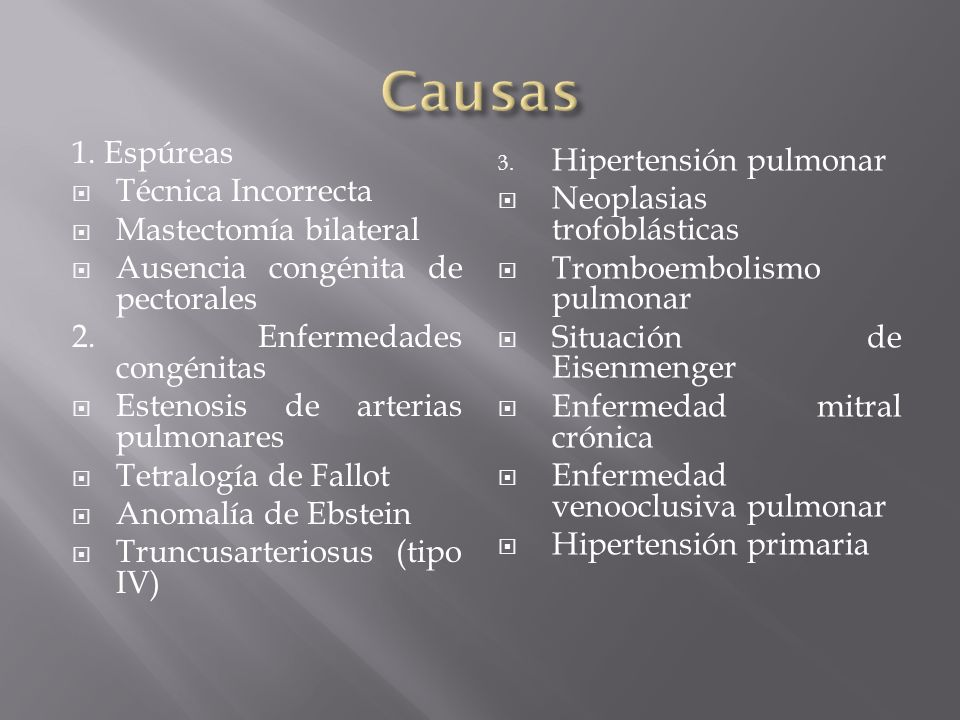 Causas 1. Espúreas Técnica Incorrecta Mastectomía bilateral