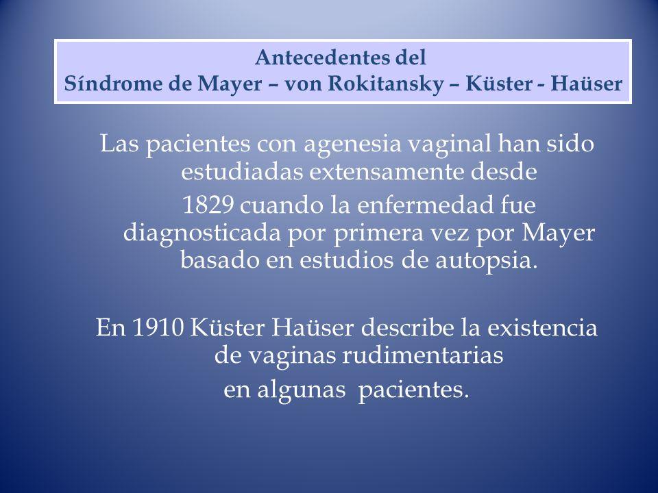 Síndrome de Mayer – von Rokitansky – Küster - Haüser