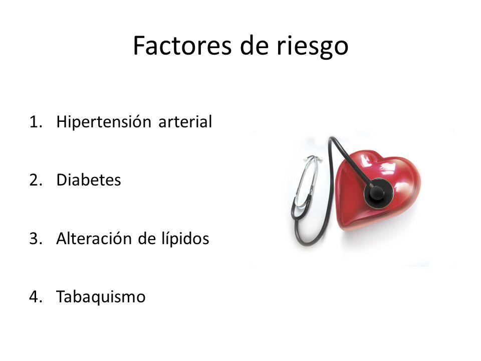 Factores de riesgo Hipertensión arterial Diabetes