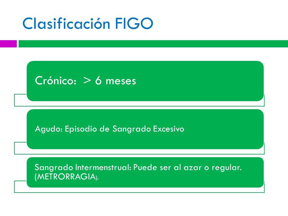 Clasificación FIGO Crónico: > 6 meses