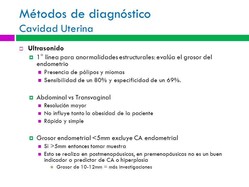 Métodos de diagnóstico Cavidad Uterina