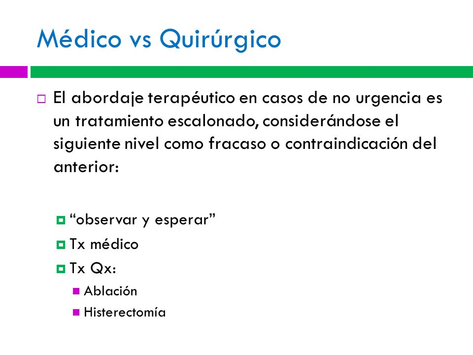Médico vs Quirúrgico