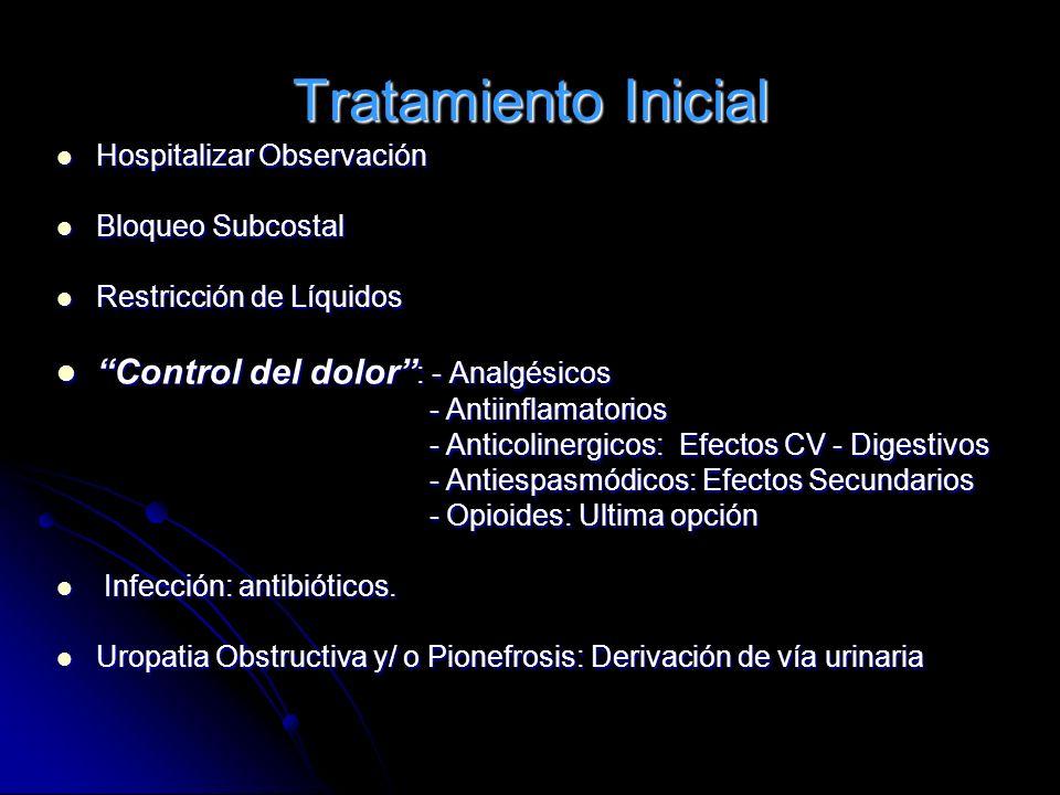 Tratamiento Inicial Control del dolor : - Analgésicos