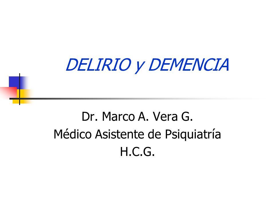 Dr. Marco A. Vera G. Médico Asistente de Psiquiatría H.C.G.