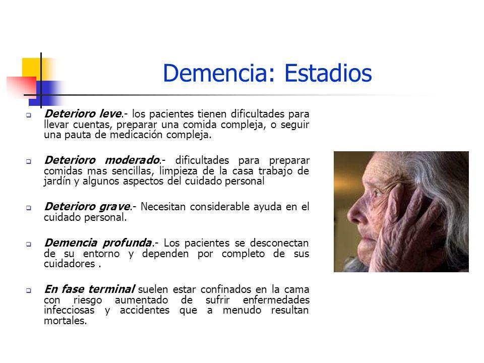 Demencia: Estadios