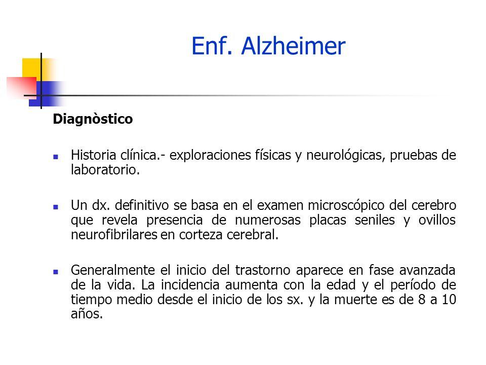 Enf. Alzheimer Diagnòstico