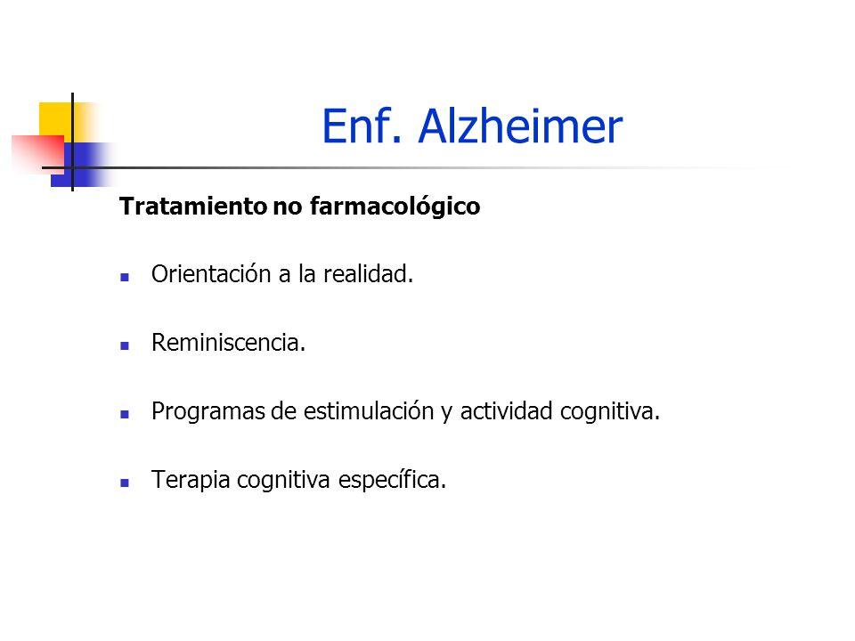 Enf. Alzheimer Tratamiento no farmacológico Orientación a la realidad.